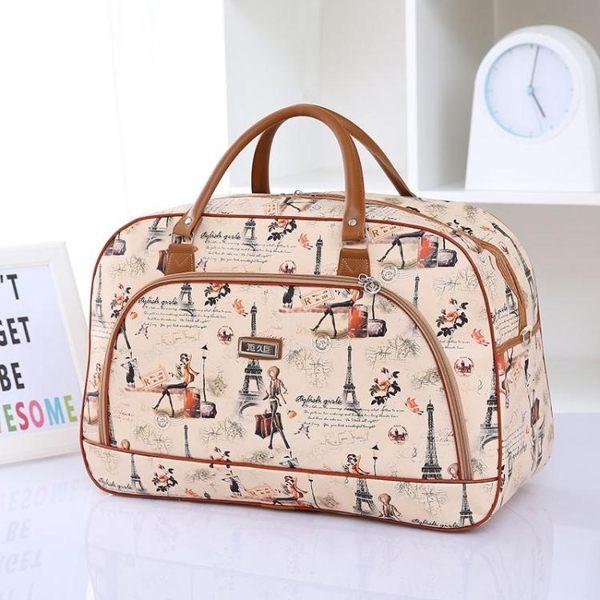 大容量旅行包女手提行李包PU旅行袋短途出差行李袋男旅游包潮 WD 時尚潮流