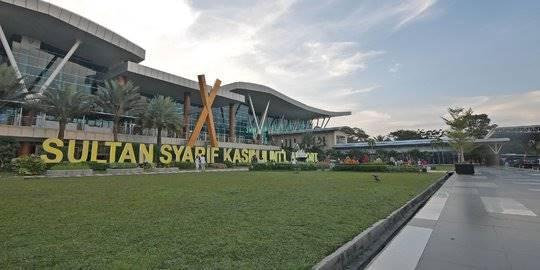 bandara Sultan Syarif Kasim II di Pekanbaru. ©Liputan6.com/Herman Zakharia