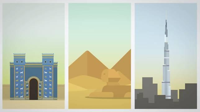 Mau dari peradaban kuno sampe ngebangun gedung-gedung tinggi.. Canggih juga ya!