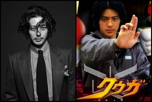 當年主演《幪面超人古迦》時的小田切讓,仍一臉稚氣,如今他已成國際知名日本演員。(互聯網)