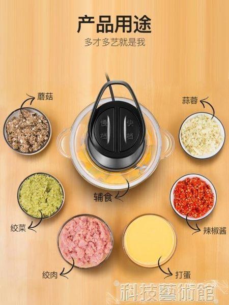 絞肉機家用電動小型不銹鋼攪拌機多功能料理機碎菜打餡全自動 DF科技藝術館