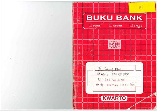 Cover buku merah catatan finansial PT. Panorama yang ditulis Kumala Dewi Sumartono