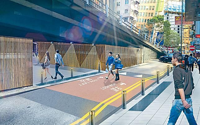 署方計畫通過謝斐道將新鴻基中心行人天橋連接至波斯富街,達致連通灣仔北與銅鑼灣的目標。
