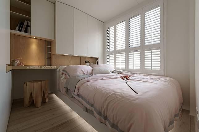 臥室設計實例十:粉嫩北歐風