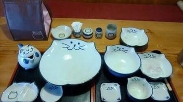 可愛的貓餐具,可換的貓餐具