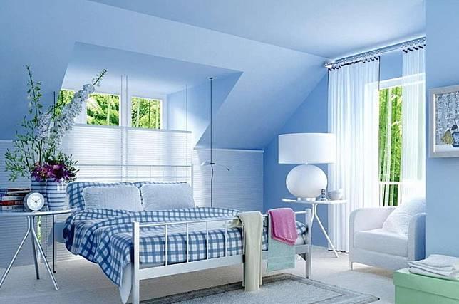 78 Gambar Desain Kamar Tidur Warna Biru Putih HD Untuk Di Contoh