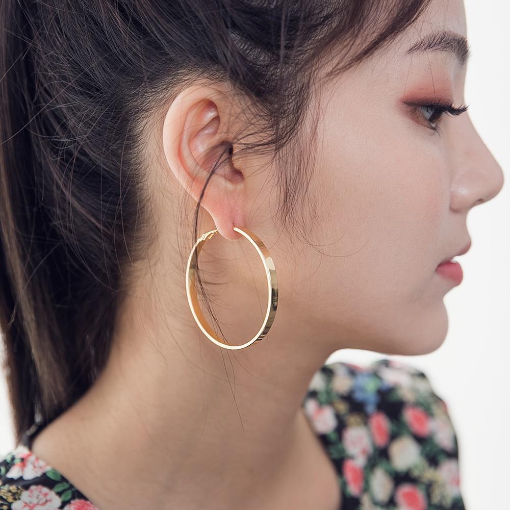[ROCOSIX官方旗艦店]純色金屬大圈耳環