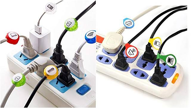 為每條電線掛上小標籤,日後使用可避免混淆。