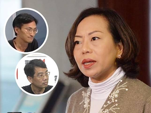 麥美娟控朱凱廸(左上)黃偉賢(左下)誹謗。資料圖片