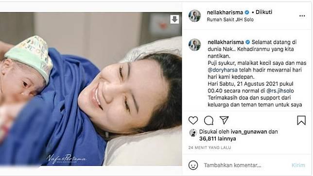 Selamat, Nella Kharisma Melahirkan Anak Pertamanya dengan Dory Harsa