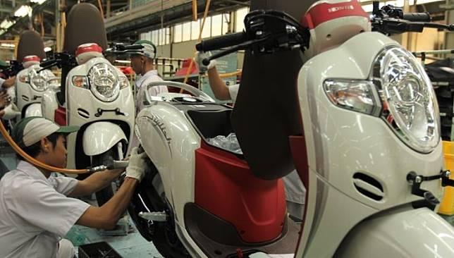 Ilustrasi, motor baru Honda Scoopy