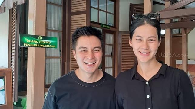 Baim Wong dan Paula Verhoeven. [Revi C Rantung/Suara.com]