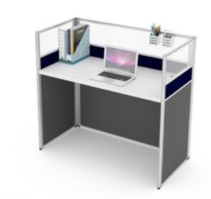 辦公桌 辦公家具辦公桌椅組合簡約現代職員桌辦公屏風4人6人位員工桌 MKS小宅女