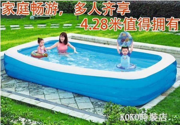 兒童充氣游泳池家庭超大號加厚家用室內大型成人寶寶海洋球戲水池