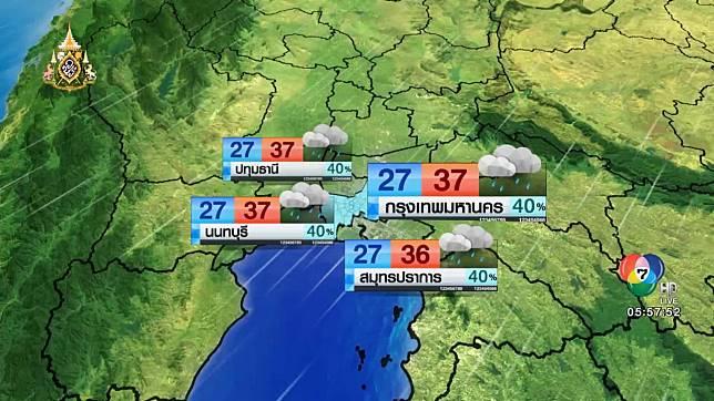 พยากรณ์อากาศวันนี้ 25 มิถุนายน 2562