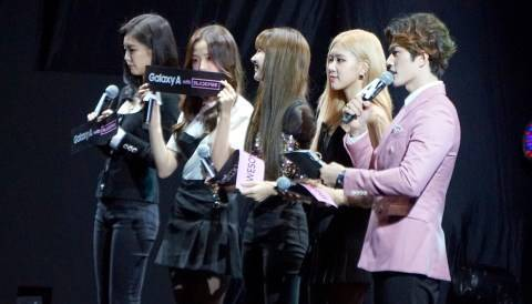 Blackpink di acara 'Samsung Awesome Party Live with Blackpink.' Foto: Niken Nurani/kumparan
