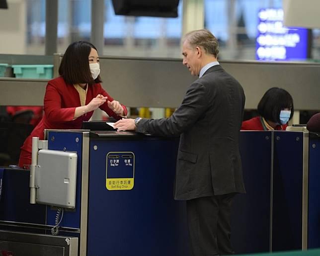 再多一名機場員工感染麻疹。資料圖片