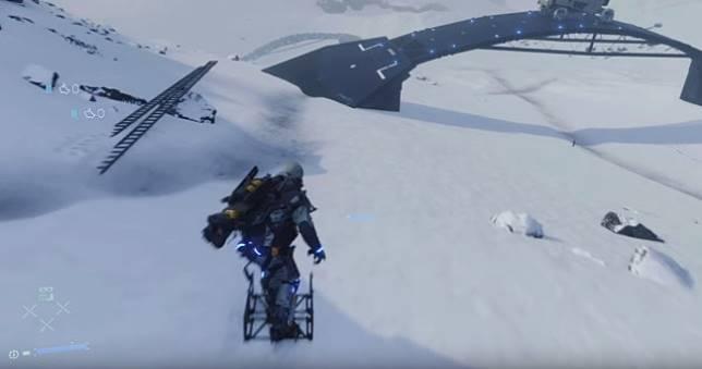 好心山姆在《死亡擱淺》蓋出一座滑雪場讓大家玩,走路模擬頓時變《極限巔峰》