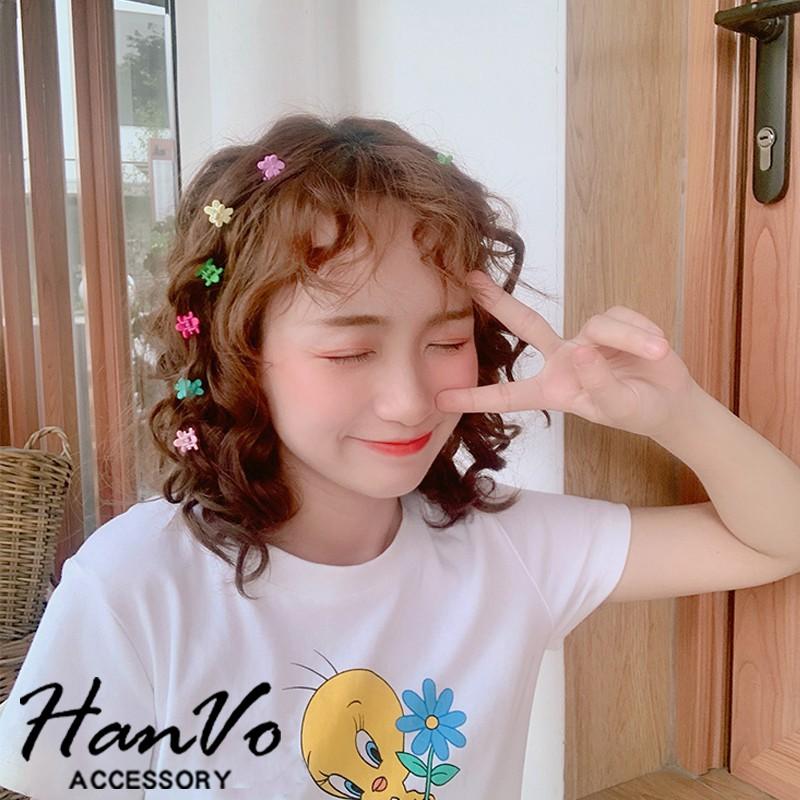 【HanVo】繽紛糖果色小髮夾 現貨流行編髮髮飾髮夾小抓夾飾品少女兒童瀏海夾 8026