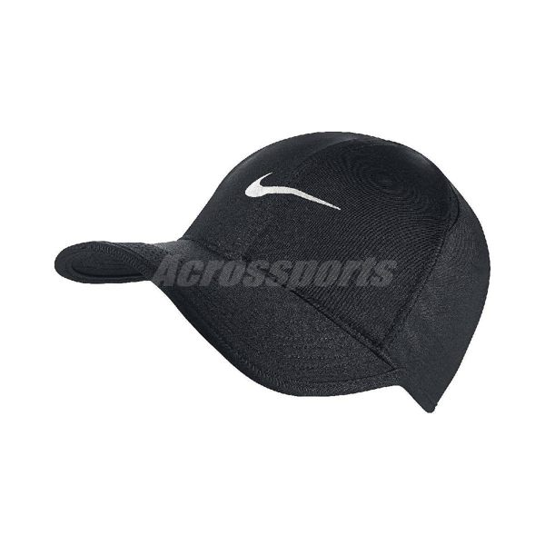 Nike 帽子 FeatherLight Cap Dri-FIT 黑 白勾 魔鬼氈 後扣調整 網球帽 棒球帽 男女款 【PUMP306】 679421-010
