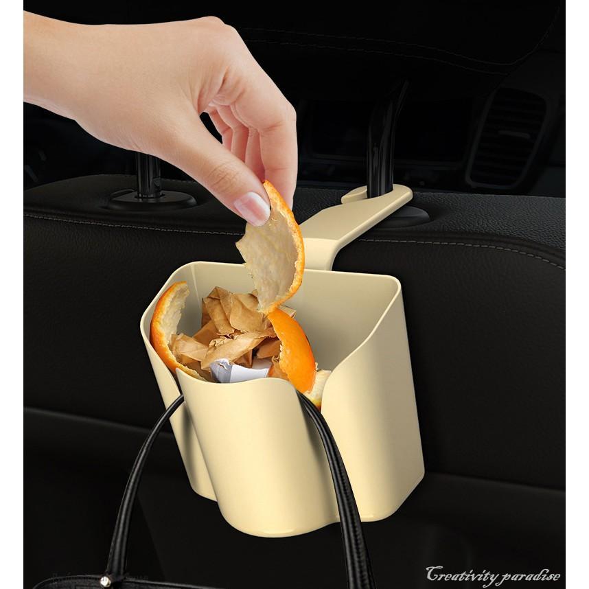 椅背收納盒 汽車用多功能收納筒 掛鉤支架 車載垃圾桶 後座水杯架 飲料架 精品社