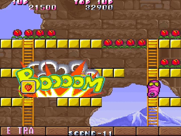 敵人死亡時會隨機留下各種武器,攻擊範圍廣大的炸彈可以一次擊殺多位敵人。