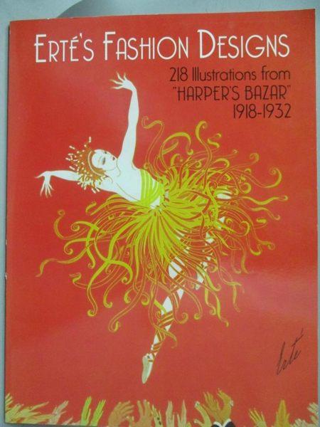 【書寶二手書T1/設計_YDD】Erte's Fashion Designs: 218 Illustrations…
