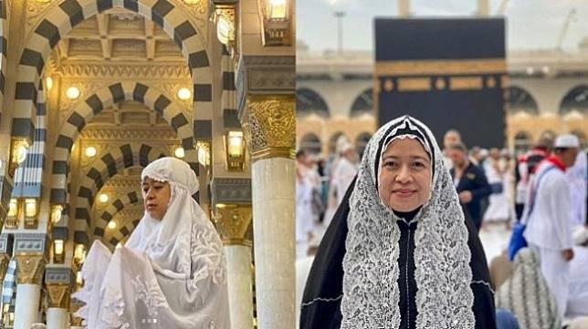 Puan Maharani Umrah, Penampilannya Pakai Hijab Menuai Pujian