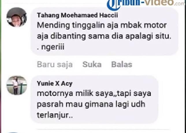 Tanggapan Yuni setelah ada salah satu warganet mengomentari statusnya.