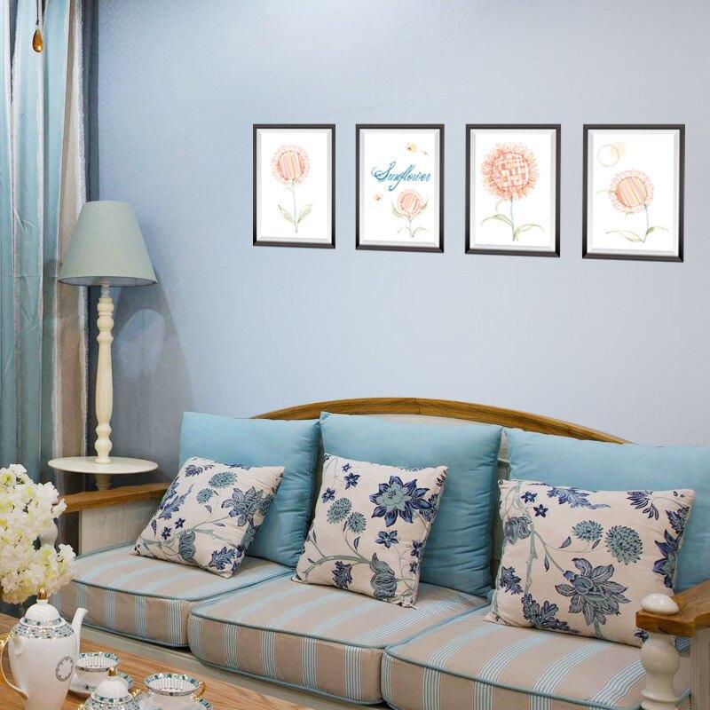 WallFree窩自在DIY牆貼/壁貼 居家裝飾 3D仿真太陽花畫框 50x70窩自在