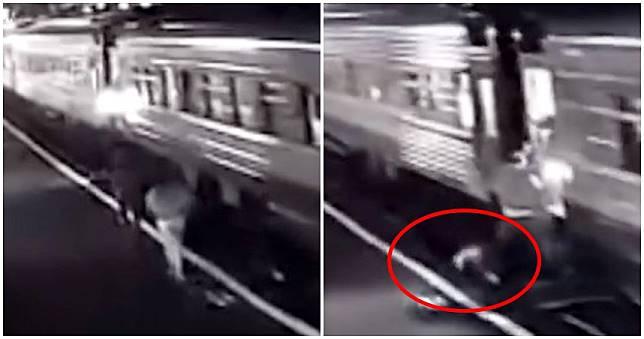 男女月台奔跑跳上「行駛中列車」! 女乘客秒捲車底雙腿被輾斷