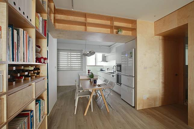 改造後的開放式廚房設計
