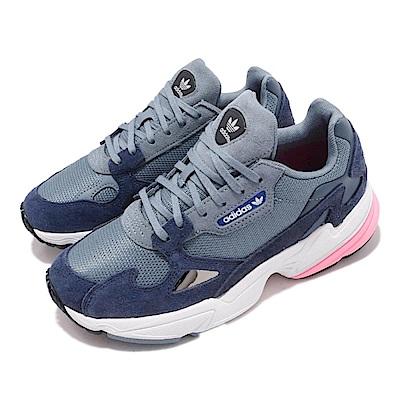 品牌: ADIDAS型號: D96699品名: Falcon W HK海外限定 愛迪達 老爹鞋三葉草 厚底 潮流 藍 白