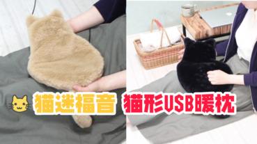 【貓咪控福音】貓形USB暖枕