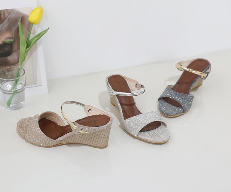[Jeshop] ON&ON;SHINee 跛跟鞋 高跟拖鞋 6cm 銀色