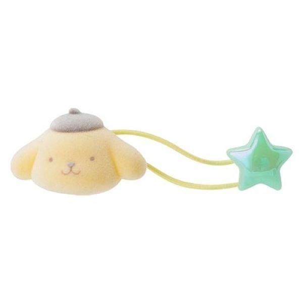 【震撼精品百貨】Pom Pom Purin 布丁狗~Sanrio 布丁狗可愛大臉造型短絨飾物髮束(星)#98594