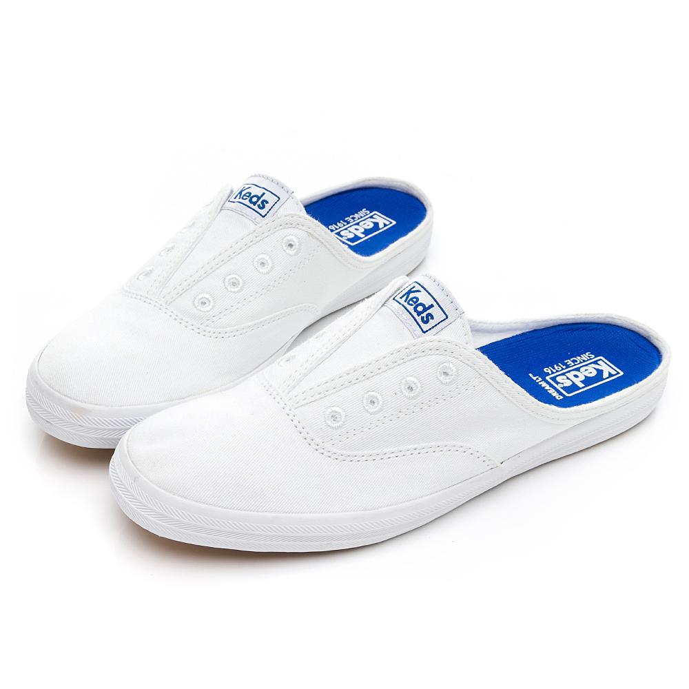 MOXIE MULE 休閒有機棉穆勒鞋-白