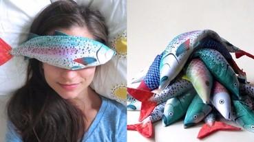 看了好想要!讓你買一條「魚」來敷眼睛 這一款可愛造型眼罩網路走紅!