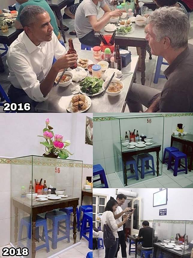 Hasil gambar untuk pernah dipakai obama, netizen syok lihat yang terjadi pada meja warung makan ini setelah dua tahun
