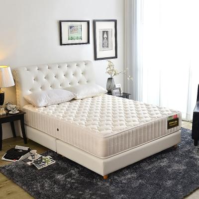 Ally愛麗 白金雲端-乳膠1443顆護邊獨立筒床墊-雙人加大6尺