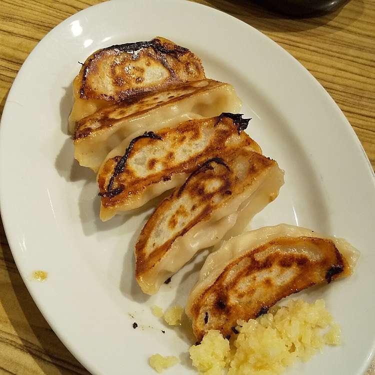 新宿区周辺で多くのユーザーに人気が高い餃子新宿駆け込み餃子の焼餃子5個の写真