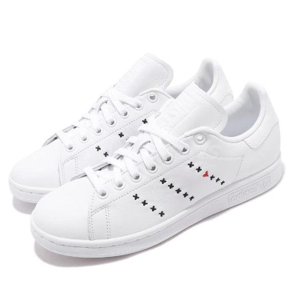 adidas 休閒鞋 Stan Smith 白 黑 男鞋 女鞋 運動鞋 史密斯 小愛心 【PUMP306】 EG5810