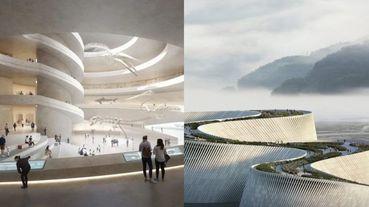 宛如仙境般的優美河流設計!「深圳自然博物館」以自然工法詮釋劃時代建築構圖