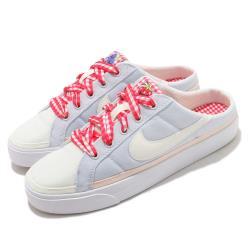 Nike 休閒鞋 Court Legacy Mule 女鞋 輕便 簡約 套腳 舒適 半包拖鞋 灰 白 DJ5058011 [ACS 跨運動]