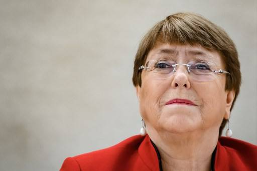 United Nations High Commissioner for Human Rights Michelle Bachelet attends the opening of the UN Human Rights Council's main annual session on Feb. 24, 2020 in Geneva.The coronavirus pandemic's disproportionate impact on ethnic minorities, and protests triggered by George Floyd's death, have laid bare