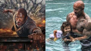 巨石強森鋼鐵之軀下父愛滿溢,女兒幫他塗指甲油這一幕超暖心!