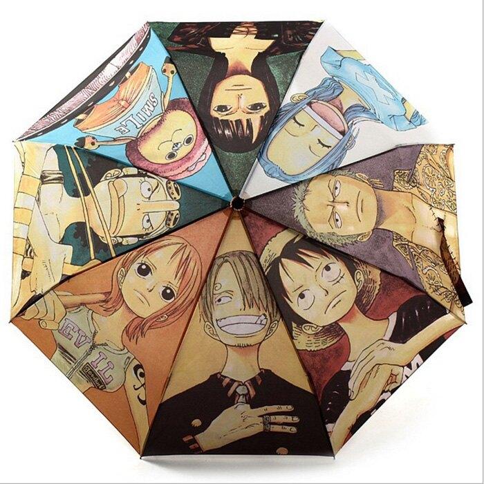糖衣子輕鬆購【WE0193】動漫卡通海賊王周邊索隆摺疊雨傘創意雨傘