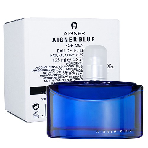 AIGNER BLUE 藍色經典 男性淡香水 125ml(TESTER-環保盒-無蓋)