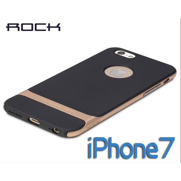 iPhone7/ROCK蘋果手機殼/邊框潮男磨砂防汗萊斯系列/無支架/外殼/4.7吋5.5吋 【C22】