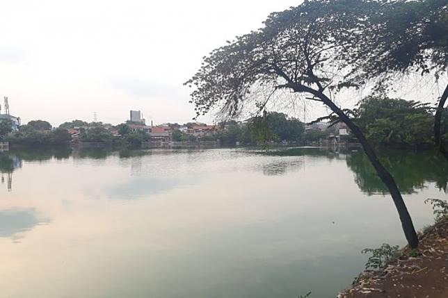 Rawabadung Lake in Cakung, East Jakarta (KOMPAS.COM/DEAN PAHREVI)